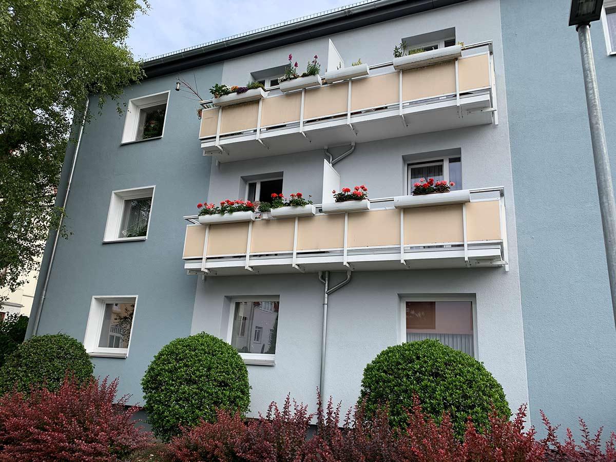 Balkone des Hauses Rennstieg 81-87