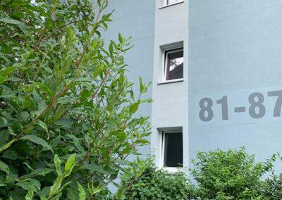 Seitenansicht Haus Rennstieg 81-87